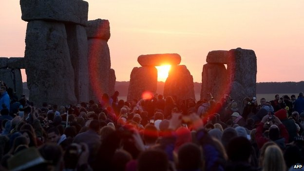 Yesterday at Stonehenge. Perfect for seeing the sun rise between the stones.