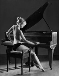 woman at piano